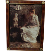 DOG Terriers English Brass Picture Frame 1890s