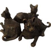 3  Bronze CATS ca. 1920s