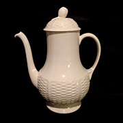 "WEDGWOOD ""Willow Weave"" Coffee Pot w/Lid"