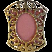 BRASS Antique Filigree Miniature Frame