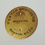 SOLD Original  FOSTER BROS.   Picture Frame Medallion