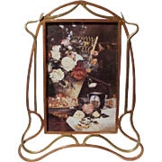 Arts & Crafts MIXED Metal Copper & Brass Picture Frame