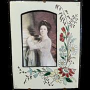 Napoleon III Enameled Floral Frame 1870s