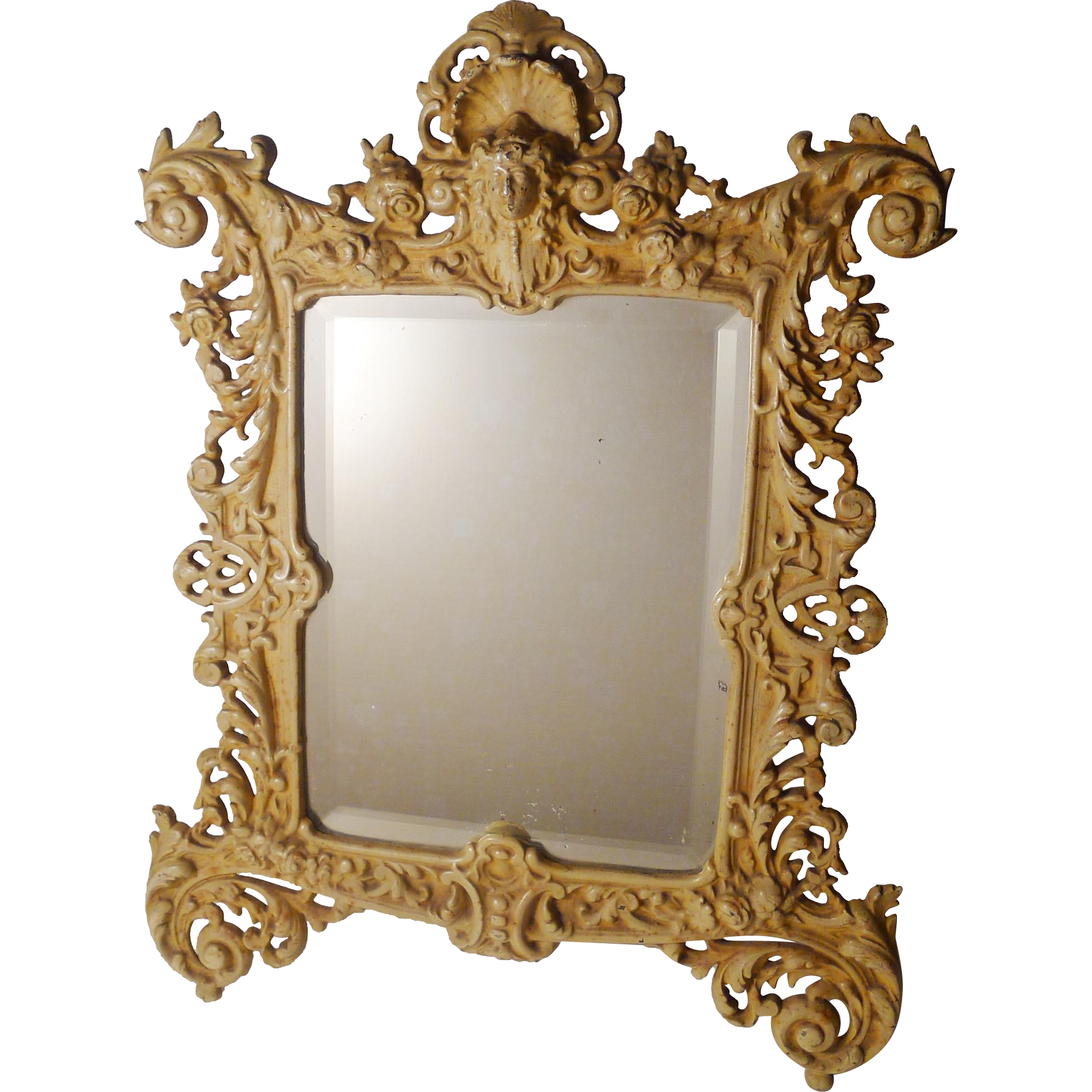Bradley hubbard painted iron frame with mirror 16 5 for Bradley mirror