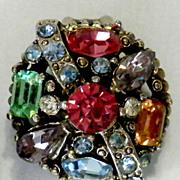 SALE HOLLYCRAFT Pastel Rhinestone Earrings