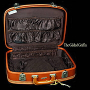 Vintage 1950s Leather Suitcase or Luggage by Erwin Kalla