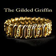 14k Gold Filled Expansion Bracelet, Post-Edwardian c 1915