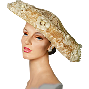Rare Vintage Couture Cartwheel Hat with New Look Influence