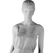 Vintage Linen Bust Bodice for Corsets and Comfort, circa 1918
