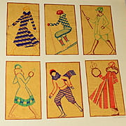 Authentic 1920s Sportswear Pen & Colored Ink  Illustration, Original Drawing, NOT PRINT