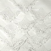 SOLD Vintage 1920s Gatsby Era Linen Napkins or Serviettes, Magnificent Reticella Lace
