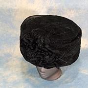 SOLD Grand Edwardian Large Bucket or Basket Hat 1910-12 EX+