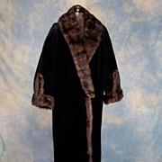 SOLD Opulent Edwardian Sable Trimmed Vintage Winter Coat