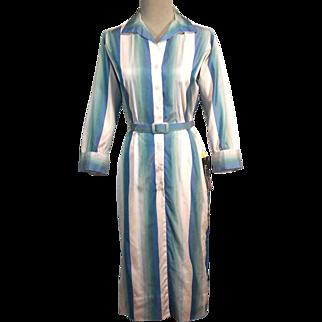 SALE Pristine 60s Vintage NOS Silk Sheath Dress w Belt