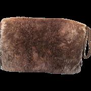 Posh Edwardian Sheared Beaver Fur Winter Hand Muff