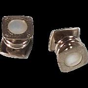 Vintage 1920's Silver Tone Snap Cufflinks