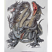 P D Breeding Black Signed and Numbered Print - Kaliya Dragon Cover Art Talislanta