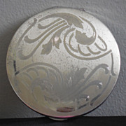 SALE Vintage Sterling Silver Elgin American Compact