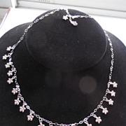 Milor Italian 14k White Gold Fancy Necklace --18 inch Long