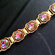 Gorgeous Watermelon Crystal Vintage Bracelet