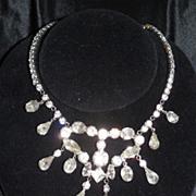 Dramatic Vintage Rhinestone Bib Necklace
