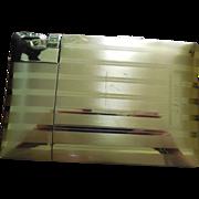 SALE Vintage Cigarette Case Signed Elgin With Attached Lighter