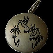 Signed Jason Takala Hummingbird Pendant - Hopi Native American