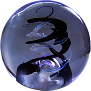Gorgeous Signed Selkirk Paperweight - Spindrift 1988