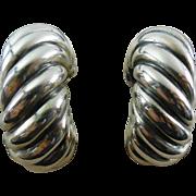 SALE David Yurman Sterling Earrings Converted From Pierced As Found