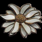 Rare David Andersen Signed Norway Sterling Enamel Chrysanthemum Brooch