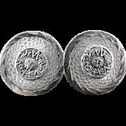 Sterling Silver Taxco Mexican Aztec Mayan Calendar Cufflinks Eagle 113 E?B