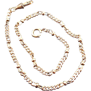 Antique .025 Gold Pocket Watch Chain with Nice Links