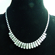 Signed Weiss Rhinestone Necklace - Wedding or Holiday Sparkle!