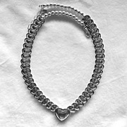 SALE Carolyn Pollack Sterling Hearts Necklace - Retired
