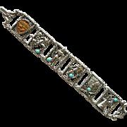 Minnesota Souvenir Bracelet with Native American Figures