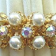 SALE Azub Austria faux pearl & rhinestone bracelet