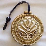 Art nouveau celluloid vanity dance purse or compact