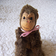 Miniature Steiff Jocko Monkey, 1958 to 1964, No Id's