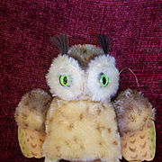 Steiff Wittie Owl, 1959 to 1964, No Id's