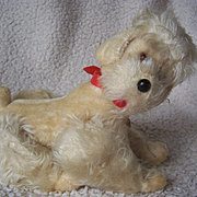 Vintage German Berg Jointed Poodle, Metal Tag