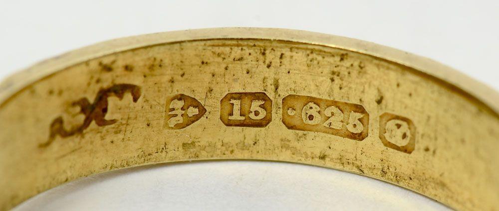 Victorian gold hallmarks