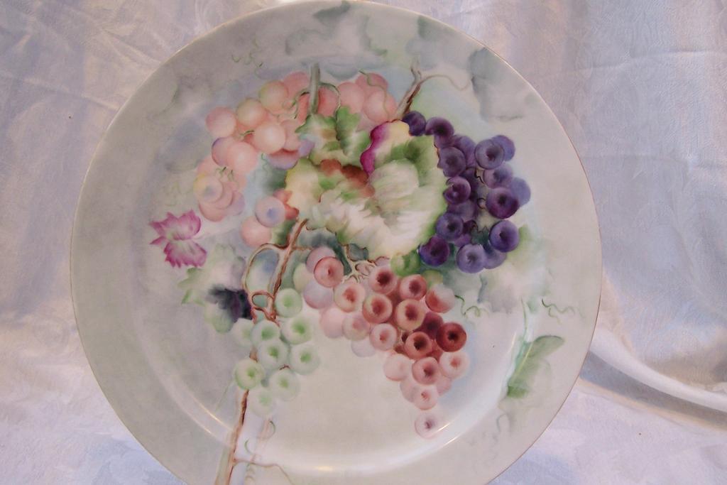 "Century Old Haviland Limoges France ""Still Life of Grapes"" Hand ..."