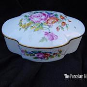 SOLD Limoges Goebel porcelain dresser box artist signed