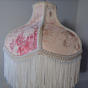 Delinieres & Co. Limoges porcelain lamp with silk shade