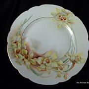 French Haviland Limoges Springtime Daffodils porcelain plate