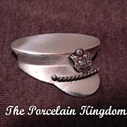 WWII sterling silver military army hat sweetheart pin