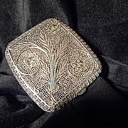 Original hand crafted Antique Silver Filigree Cigarette Case
