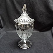 SOLD Silver Overlay Compote