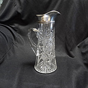 Cut Glass & Sterling Pitcher
