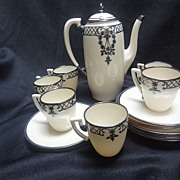Lenox Belleek Silver Overlay Tea Set